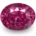 4.06-Carat Natural & Unheated Eye-Clean Oval-Cut Ruby (IGI)
