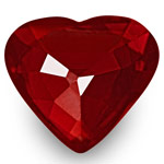 2.13-Carat Top-Grade Heart-Shaped VVS Pigeon Blood Red Ruby