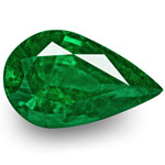 4.46-Carat GRS-Certified Deep Green Pear-Shaped Zambian Emerald