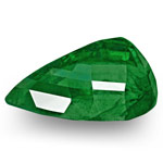 9.98-Carat Pair of Deep Green GRS-Certified Pear-Shaped Emeralds