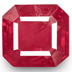 3.20-Carat Octagon-Cut Rich Pinkish Red Unheated Burmese Ruby