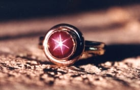 A ring mounted with a star ruby