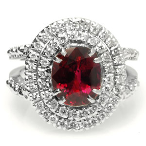 3.03-Carat GRS Certified Ruby Ring
