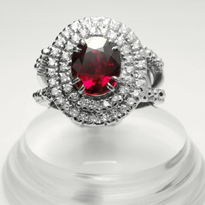 3.03-ct GRS certified Ruby ring
