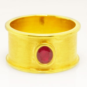 0.89-Carat Burmese Ruby Ring