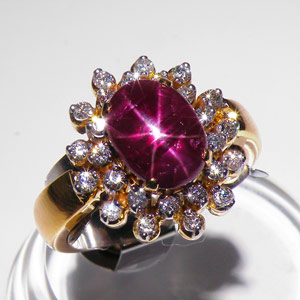 5.18-Carat Burmese Star Ruby Ring