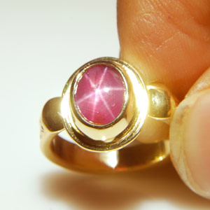 4.27-Carat Star Ruby Ring