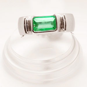 1.83-Carat Colombian Emerald Men's Ring