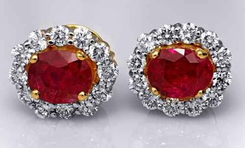 Unheated Mozambique Ruby Earrings