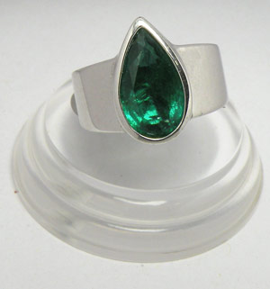 3.48-Carat Zambian Emerald Ring