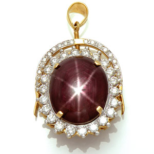 Star Ruby Pendant-Ring